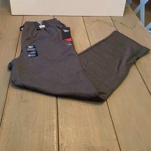 Reebok Performance Knit/Fleece Joggers in Gray
